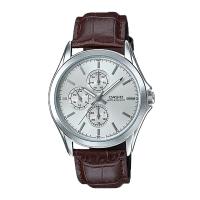 Casio Men's Standard Analog Brown Leather Strap Watch