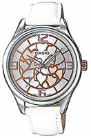 Casio Women's Dial Leather Band Watch
