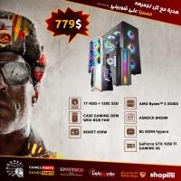 Gaming PC AMD Ryzen 5 3500X -8G RAM-128GSSD- GeForce GTX 1050 Ti GAMING 4G