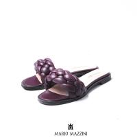 Women's Maroon leather sandal- Mario Mazzini