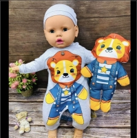 The original Turkish cotton blanket with a stuffed doll from newborn to 9 months old