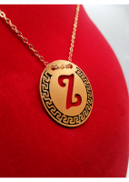 Rose Gold Plated Letter Necklace for Women