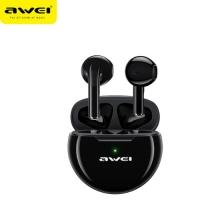 AWEI T17 Black Bluetooth Earphone Stereo Heavy Bass Fast in-Ear Headset Touch Contral Earphones