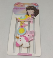 Girls hair clip 4 shapes and colors