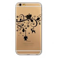 For iPhone cover 6 Plus Silicon Transparent diverse shapes