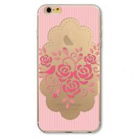 For iPhone cover 6 Plus Silicon transparent ornament