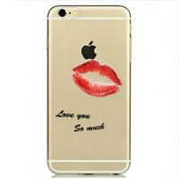 Cover For iPhone 6pluse transparent silicone love