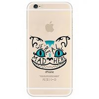 Cover For iPhone 6pluse transparent silicone Cat laughing