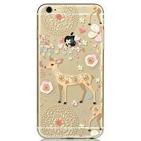 Cover For iPhone 6pluse transparent silicone Deer colored