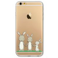 Cover  For iPhone 6plus transparent silicone Rabbits