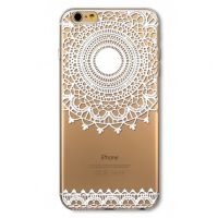 Cover For iPhone 6pluse transparent silicone Engraving white