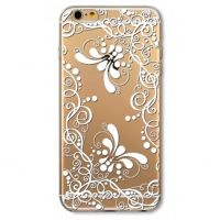 Cover For iPhone 6plus transparent silicone Engraving strange and distinctive