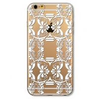 Cover  For iPhone 6plus transparent silicone White decorations