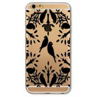 Cover For iPhone 6plus s transparent silicone Birds