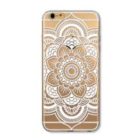 Cover For iPhone 6plus S transparent silicone Rose white vegetable