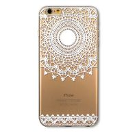 Cover For iPhone 6 transparent silicone Large flower