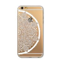 Cover For iPhone 6 transparent silicone Flower, vegetable