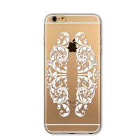 Cover For iPhone 6 transparent silicone Embossing Exquisite