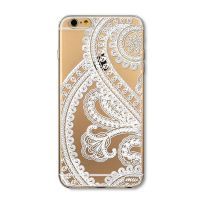Cover  For iPhone 6 transparent silicone Embossing Distinctive