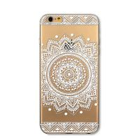 Cover For iPhone 6plus transparent silicone Embossing