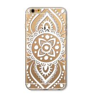 Cover For iPhone 6plus transparent silicone Engraved simple