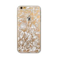 Cover  For iPhone  transparent silicone Engraved wonderful