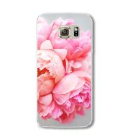 Cover Samsung Note 4 plastic transparent large flower