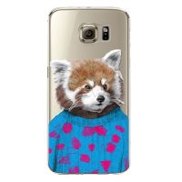 Cover Samsung Note 4 transparent plastic Brown Bear