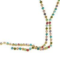 NEOGLORY necklace long multicolored beads Crystal