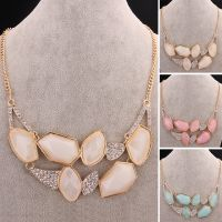 Beautiful  box resin crystal necklace