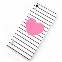 Cover Huawei Ascend P7 plastic rubbery heart+Adhesive screen