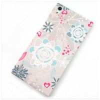 Cover Huawei Ascend P7 plastic rubbery a rose