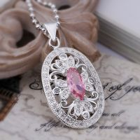 Beautiful pink crystal necklace