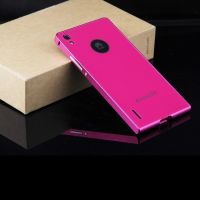 Cover Huawei Ascend P7 plastic solid pink