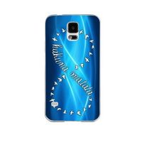 Cover Samsung S5 plastic solid Blue with birds