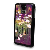 Cover Samsung S5 plastic solid Flowers