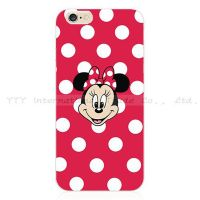 Cover iPhone 5S Transparent Mini Mouse red