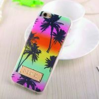 Cover iPhone 6 Plastic Rubber Palms