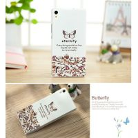 Cover Huawei Ascend P7 plastic Butterfly