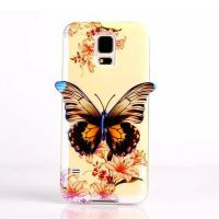 Cover  Samsung Galaxy S5 Plastic Rubber Butterfly