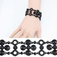 Bracelet studded with Rhine stone