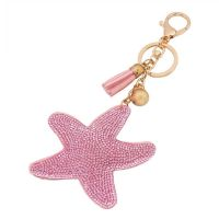 Souvenir Star Key Chain - inlaid stone Rhine