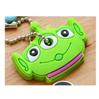 Cute Anime Cartoon Key Cover - green monster