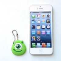 Cute Anime Cartoon Key Cover - green monster with one eye.