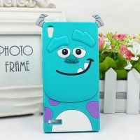 Cover Huawei Ascend P6 plastic Rubber Green monster