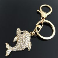 Cute Dolphin KeyChain - studded with Rhinestone
