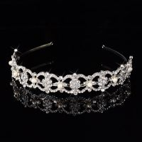 Crown crystal and pearl stylish bride