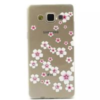 Cover Galaxy A5 Plastic Rubber Transparent roses