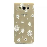 Cover Galaxy A5 Plastic Rubber Transparent Flowers attractive
