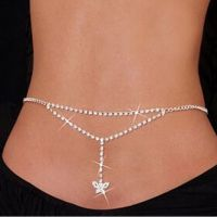 Belly chain exciting - Crystal mosaics - small butterfly
